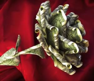 money gift rose