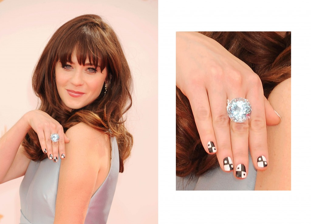 Zooey Deschanel Tourmaline ring