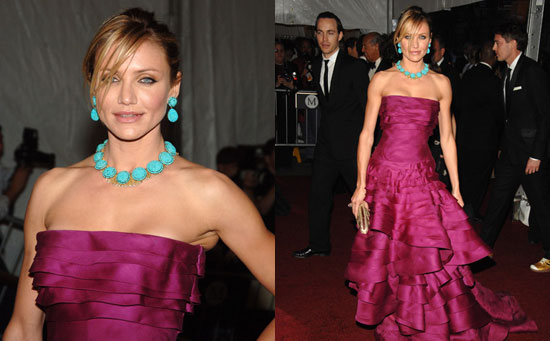 Cameron Diaz turquoise necklace and earrings