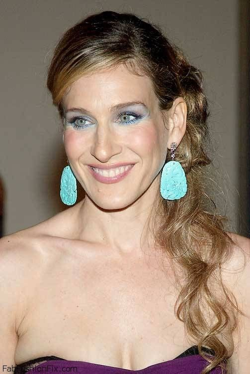 Carrie Bradshaw aka  Sarah Jessica Parker turquoise earrings