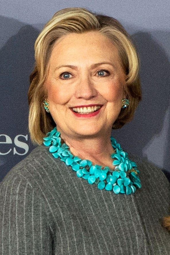 Hillary Clinton and beautiful turquoise necklace