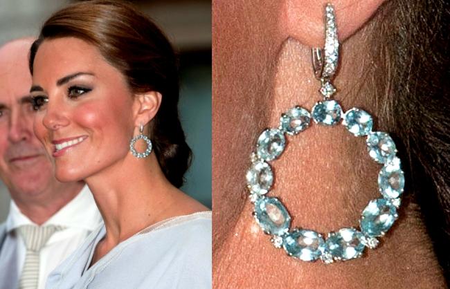 Kate Middleton hoop topaz earrings