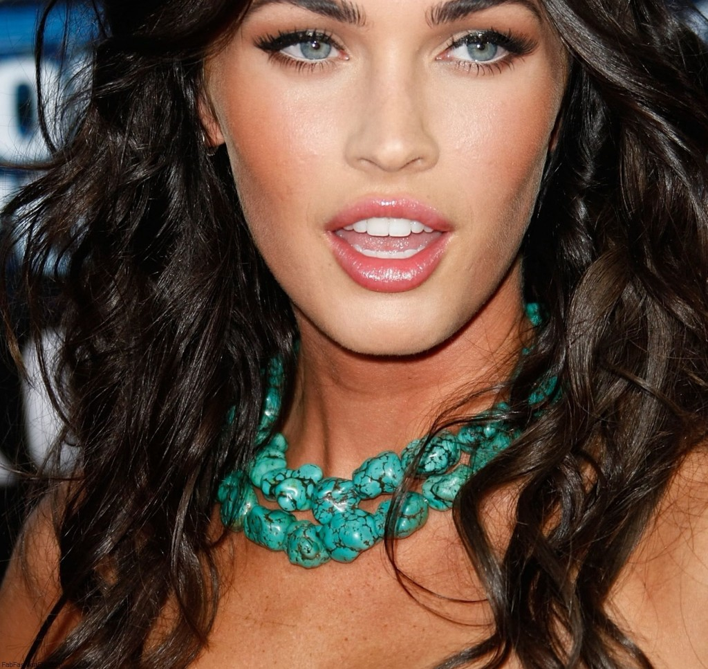 Megan Fox wearing turquoise stones necklace
