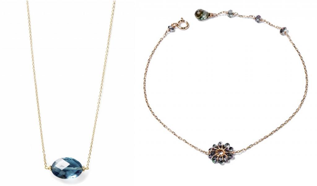 Mystic Topaz Bracelet and Topaz necklace
