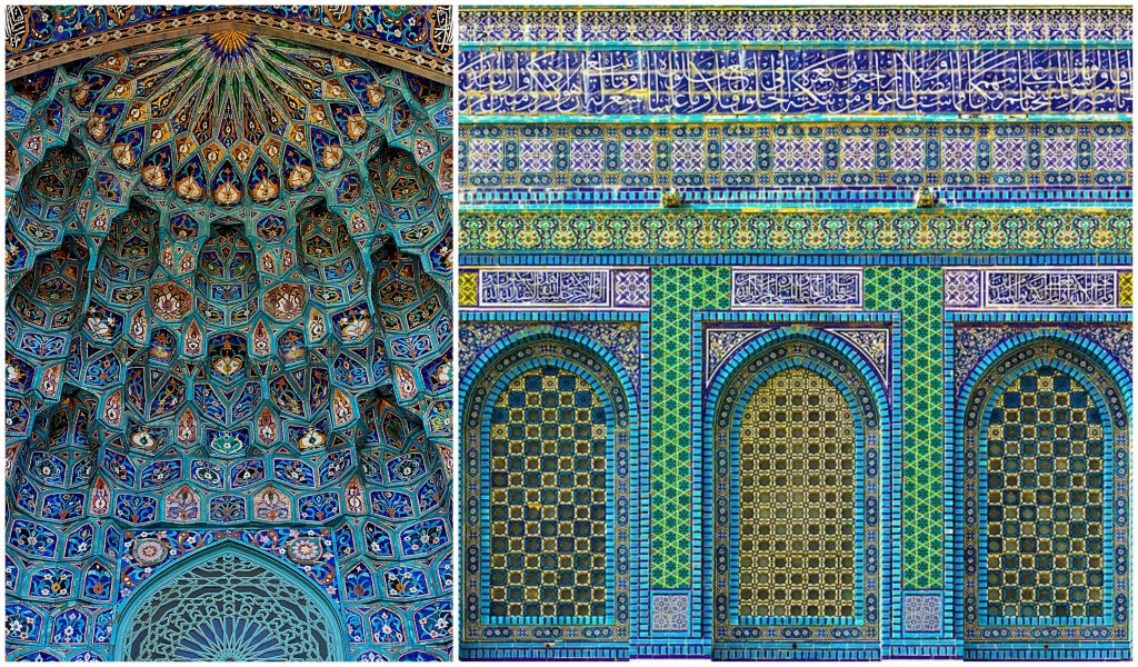 St. Petersburg mosque and Dome of the Rock in Jerusalem Turquoise