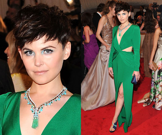 ginnifer goodwin turquoise and emerald necklace