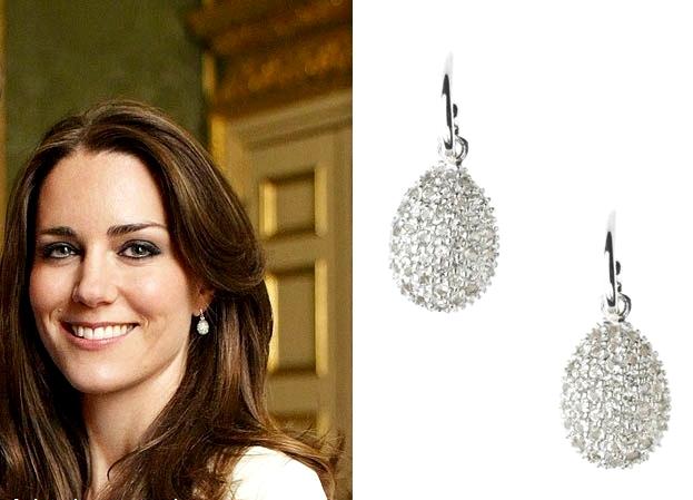 kate middleton white topaz earrings 1