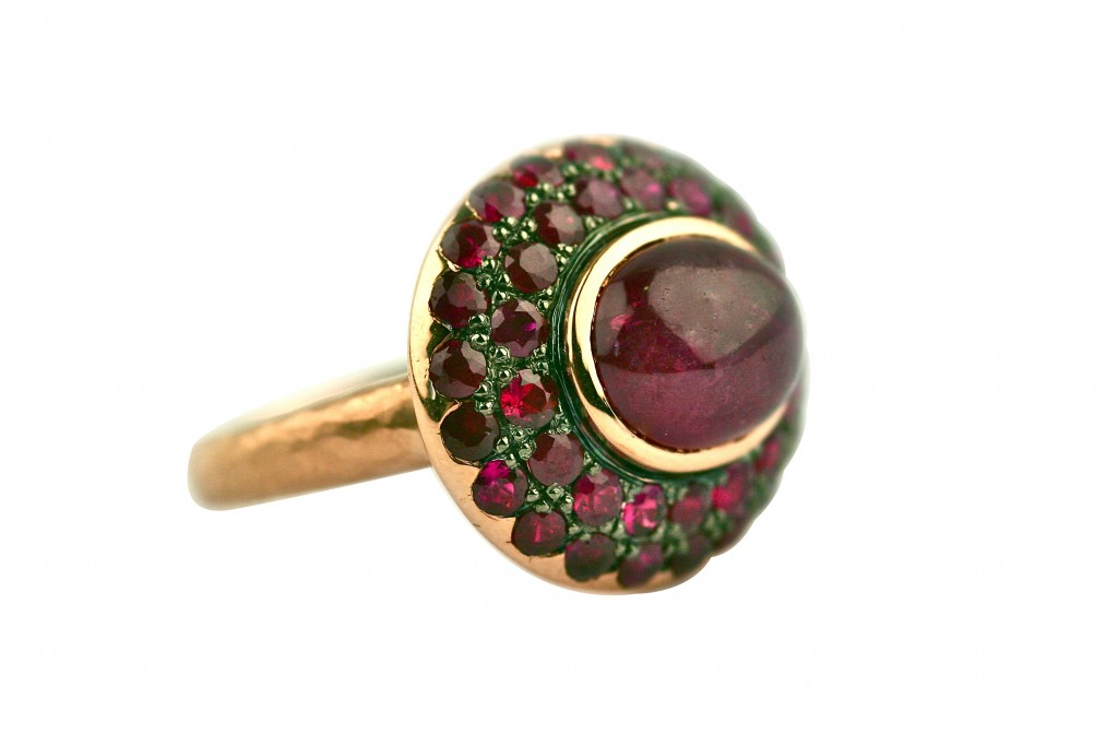 Garnet Ring Gemme Couture