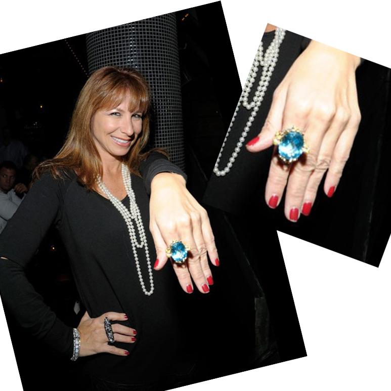 Jill Zarin bought Elizabeth Taylor's aquamarine Ring