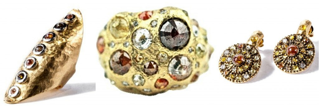 Diamonds in the Rough Collection from Gemme Couture made of multi-colored diamonds