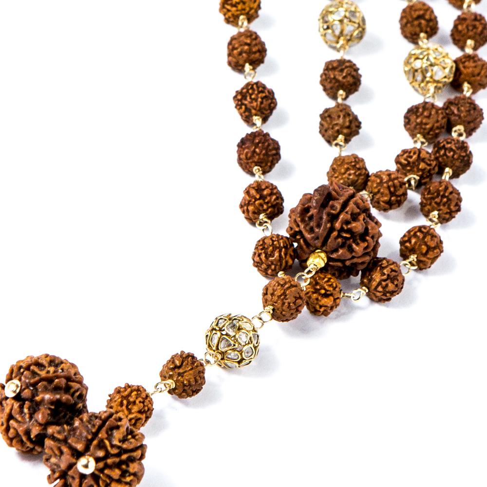 Rudraksha gold and diamond beads from Gemme Couture