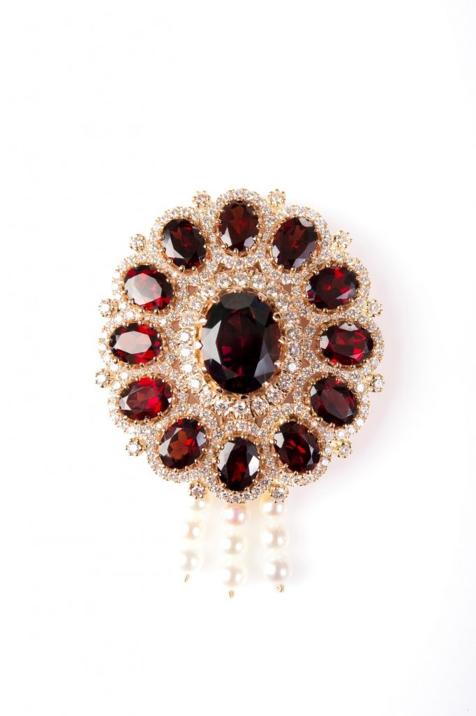 Brooch from Bespoke Designs collection by Gemme Couture jewelry