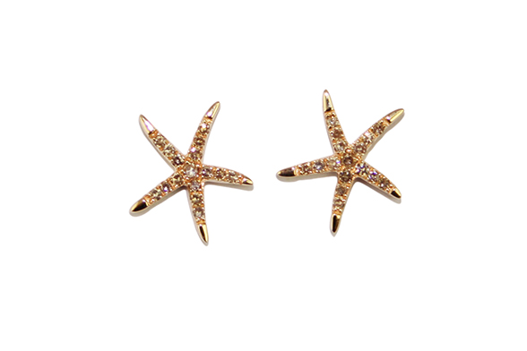 Star shaped earrings by Gemme Couture jewelry