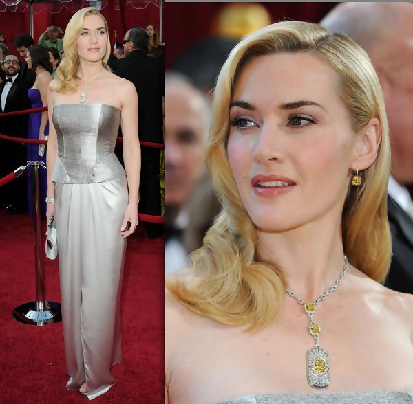 Kate Winslet Citrine jewelry at the 2010 Oscars