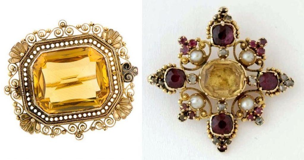Victorian citrine jewelry
