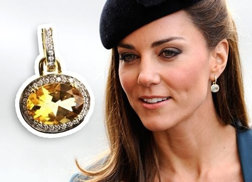 Kate Middleton and citrine earrings