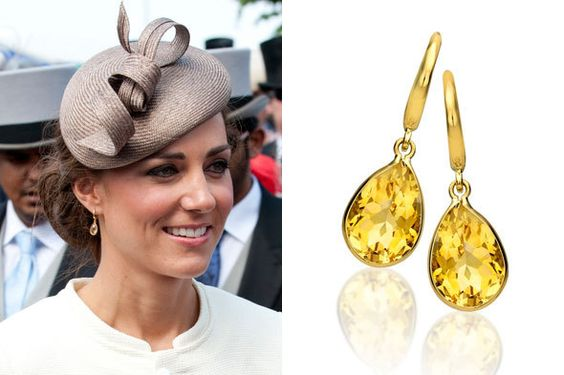 Kate Middleton Citrine earrings
