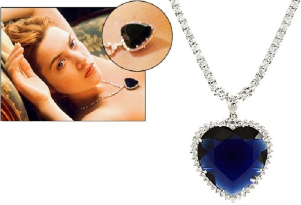"Tanzanite necklace from the ""Titanic"""