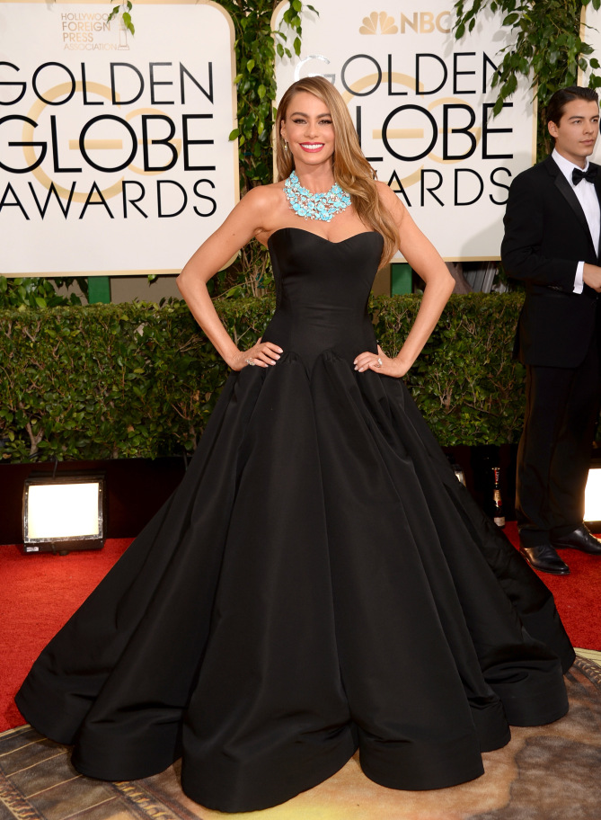 Sofia Vergara was dominating the 2018 Golden Globe's Red Carpet