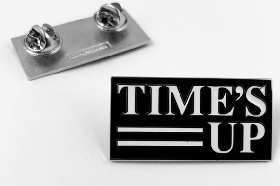 Time's Up Pin at Golden Globes 2018