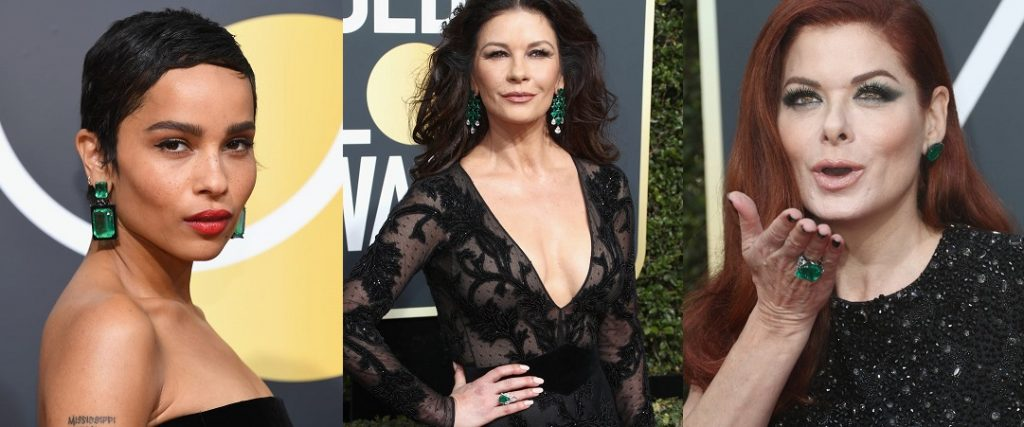 2018 Golden Globes Green Jewelry