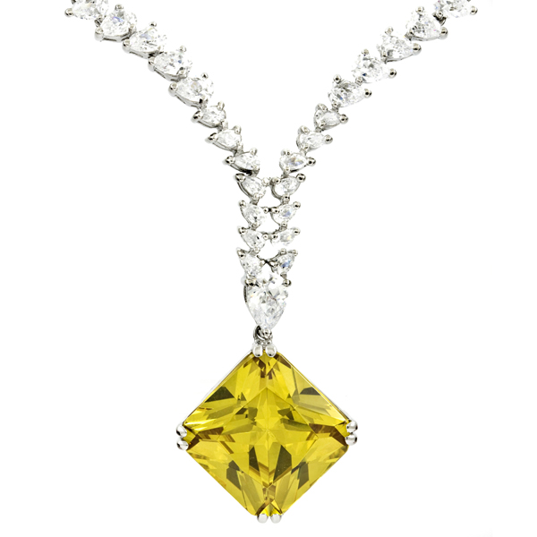 "Harry Winston's ""Isadora"" diamond necklace"