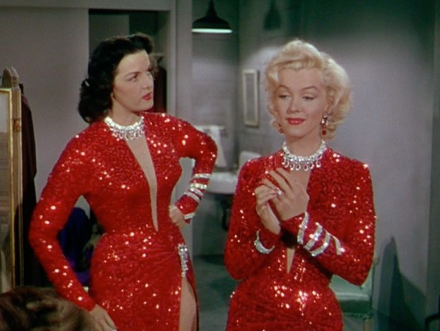 Jane Russell and Marilyn Monroe, wearing unforgettable jewelry in Gentlemen Prefer Blondes