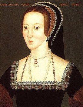A picture of real Anne Boleyn with famous jewelry