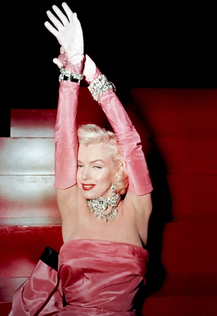 MOst famous Jewelry in Movies: Marilyn Monroe in Gentlemen Prefer Blondes