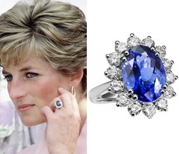 Diana's most iconic jewel in the History of British royal engagement rings