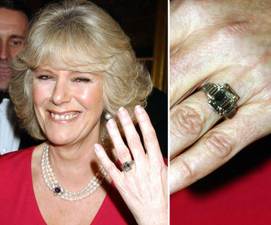 The History of British royal engagement ring : arge diamond and platinum heirloom belonging to the royal family