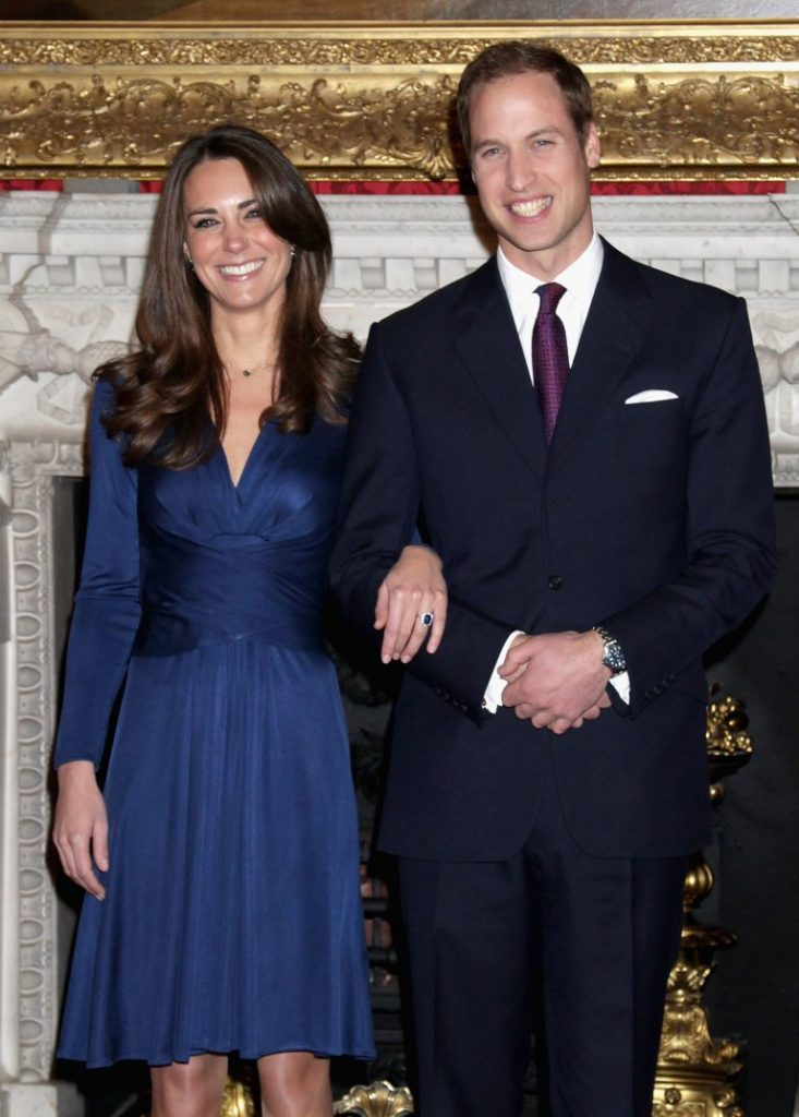 The History of British royal engagement rings:Prince William and Kate Middleton