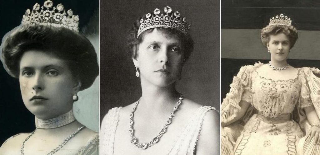 British royal engagement rings - Princess Alice's tiara from whichQueen Elizabeth's engagement ring was made