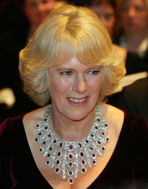 Camilla first wore this ruby and diamond necklace in public in 2007