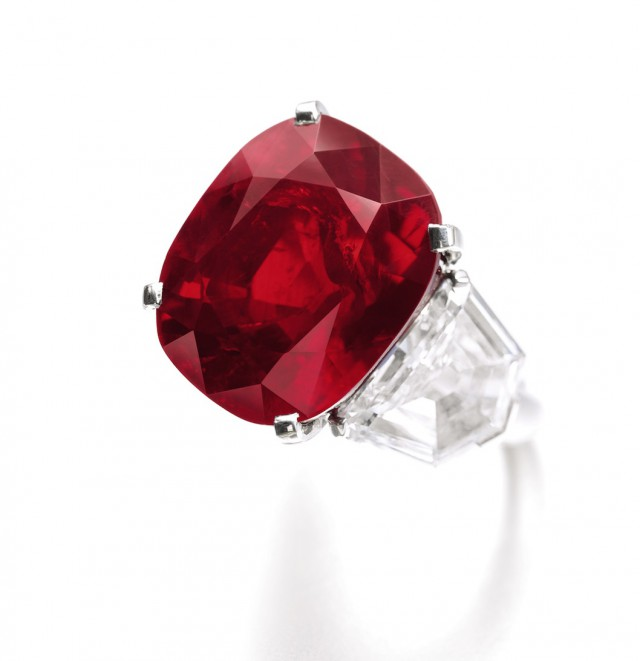ruby jewelry: The Sunrise Ruby