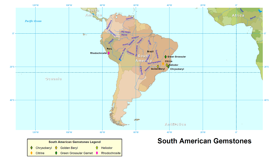 Gemstone Localities in South America