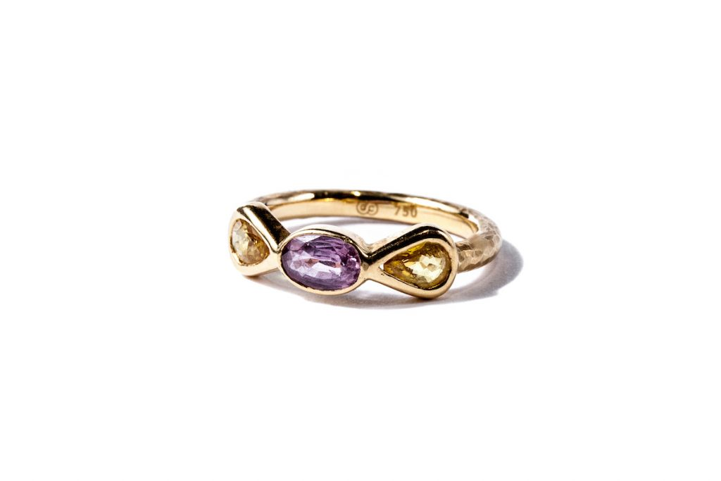 Gemme Couture Yellow Purple Sapphire Ring