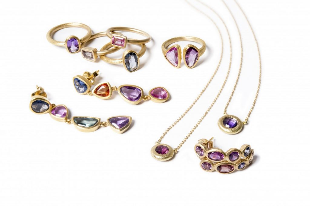 Gemme Couture Multi-Color Sapphire Rings, Earrings, and Necklaces