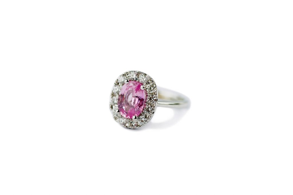 Gemme Couture Pink Sapphire Diamond Ring - Wedding Collection
