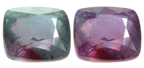 Smithsonian Alexandrite, green and red in color