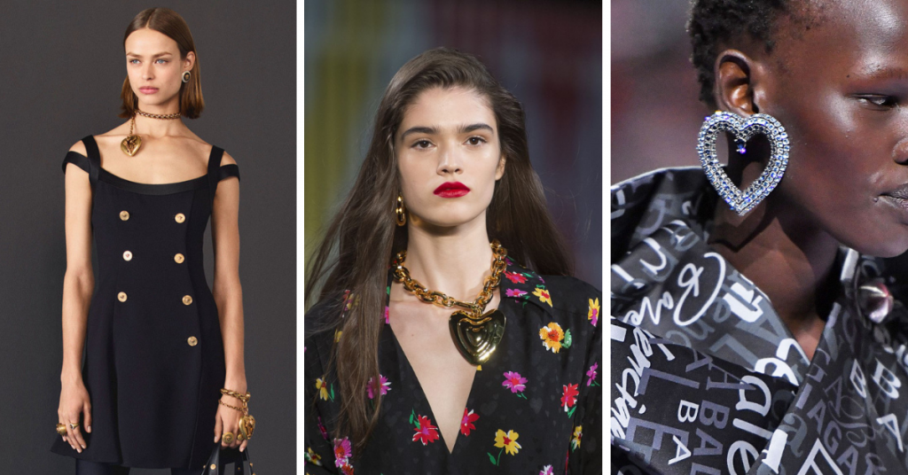 Hearts are Jewelry Trends 2019: Versace, Valentino, Balenciaga