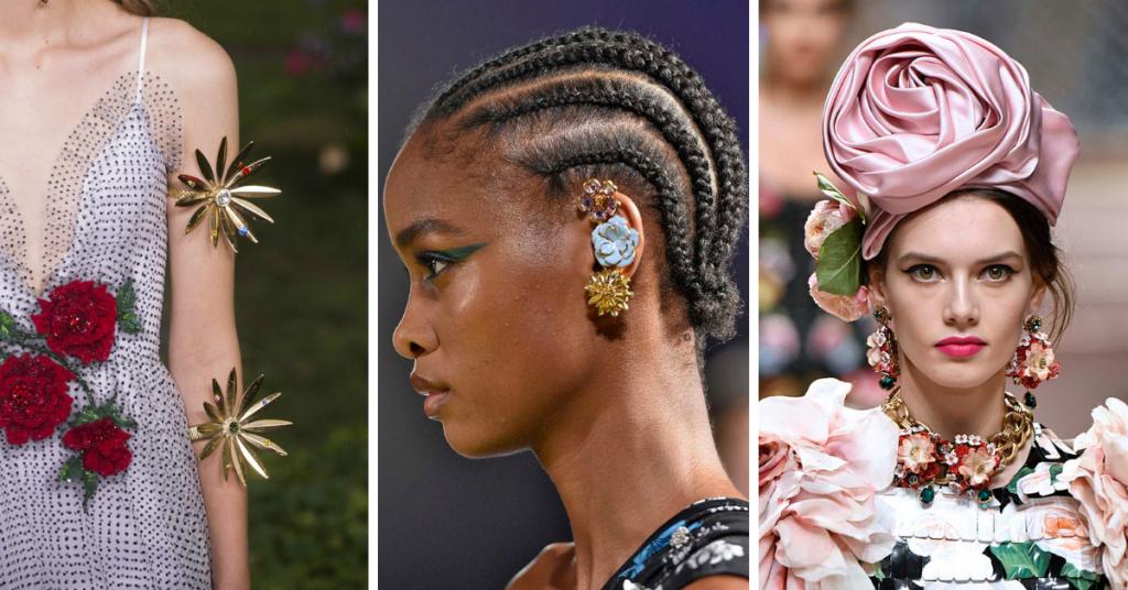 Jewelry Trends 2019: Flowers - Rodarte, Versace, Dolce & Gabbana