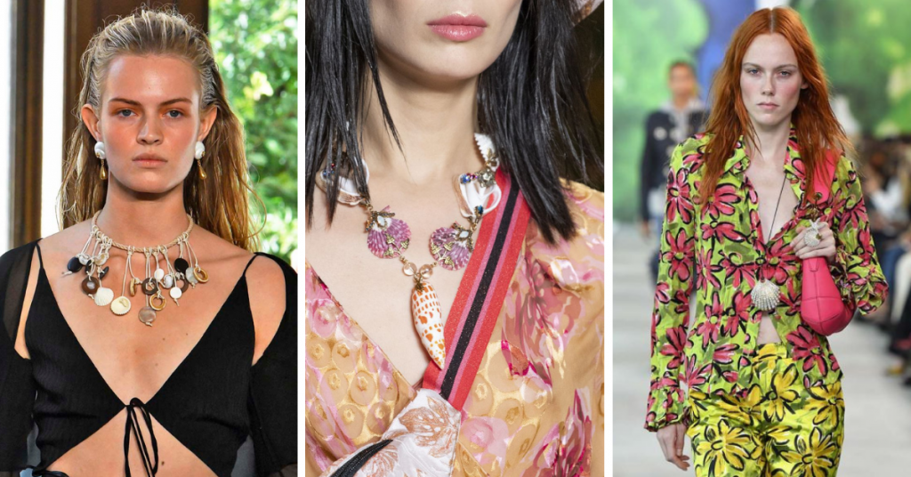 Jewelry Trends 2019:Shells: Altuzzara, Anna Sui, Michael Kors