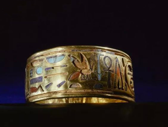 Ancient Egyptian Jewelry Armband, Pharao Psusennes I. 21st Dynasty