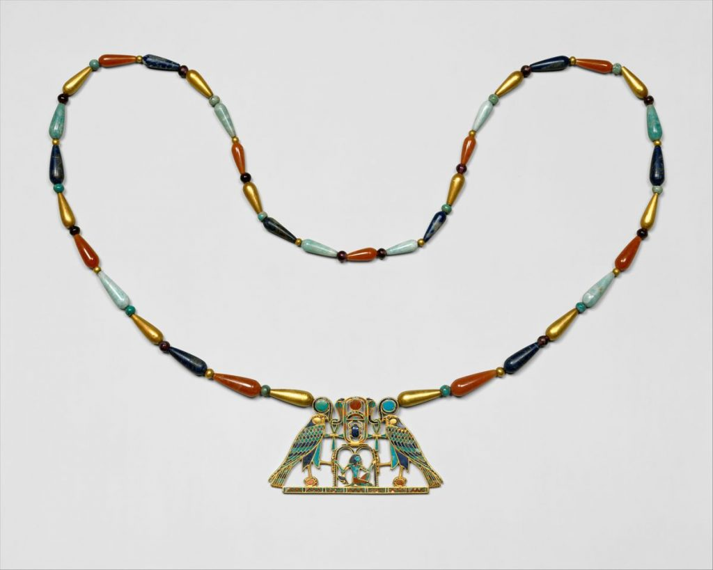 Ancient Egyptian Jewelry Pectoral and Necklace of Sithathoryunet with the Name of Senwosret II2