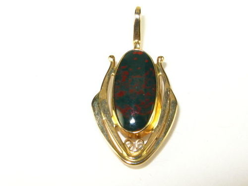5th-century Antique Bloodstone Pendant