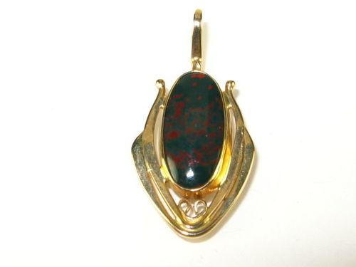 5th-century Antique Bloodstone Pendant