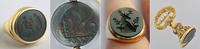 Bloodstone has been used to make seals and amulets for thousands of years, dating as far back as the ancient Babylonians.