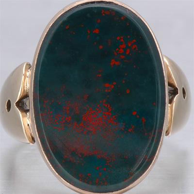 Victorian Men's Bloodstone Ring
