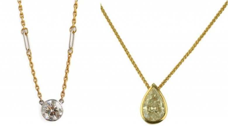 Diamond pendant necklaces from Gemme Couture